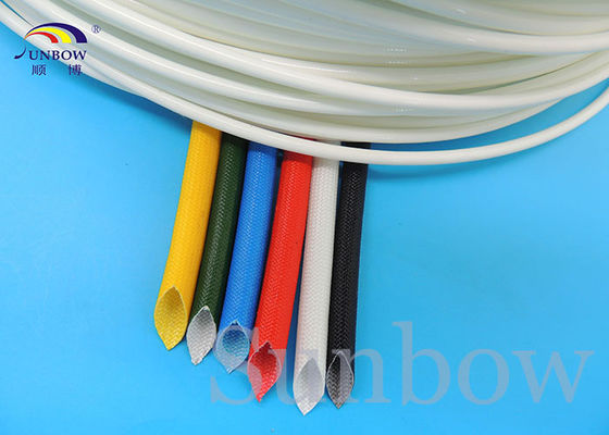 Flame Retardant Silicone Fiberglass Sleeving Dielectric Strength
